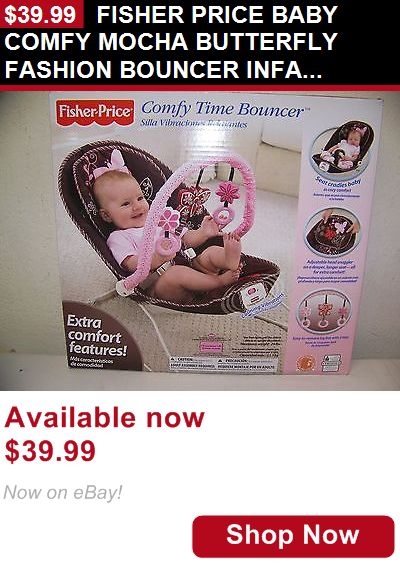 Baby bouncers and vibrating chairs: Fisher Price Baby Comfy Mocha Butterfly Fashion Bouncer Infant Seat New BUY IT NOW ONLY: $39.99