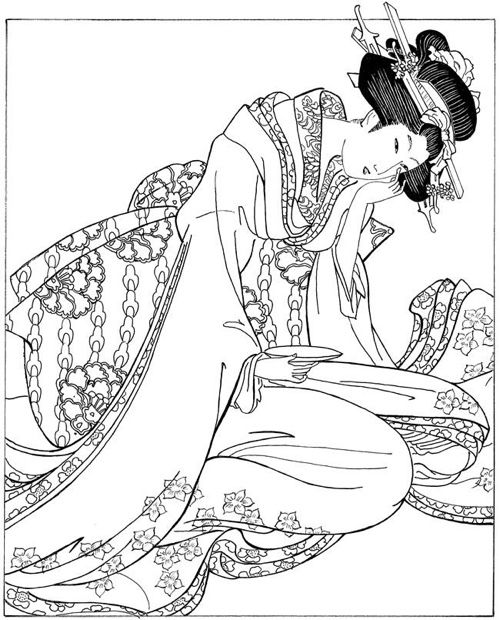 japanese coloring books for adults - Japanese Coloring Book
