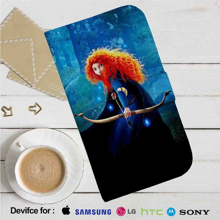 Disney Brave Leather Wallet iPhone 4/4S 5S/C 6/6S Plus 7| Samsung Galaxy S4 S5 S6 S7 NOTE 3 4 5| LG G2 G3 G4| MOTOROLA MOTO X X2 NEXUS 6| SONY Z3 Z4 MINI| HTC ONE X M7 M8 M9 CASE