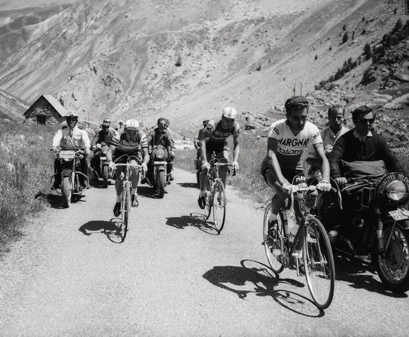 Jacques Anquetil, Raymond Poulidor and Federico Bahamontes During the 1964 Tour de France