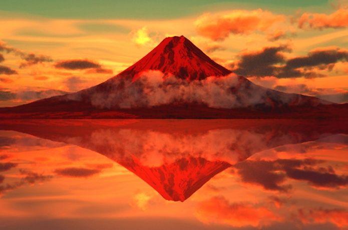 ジンクス 赤 富士 陣痛中に赤富士の絵!書き方はどうするの?