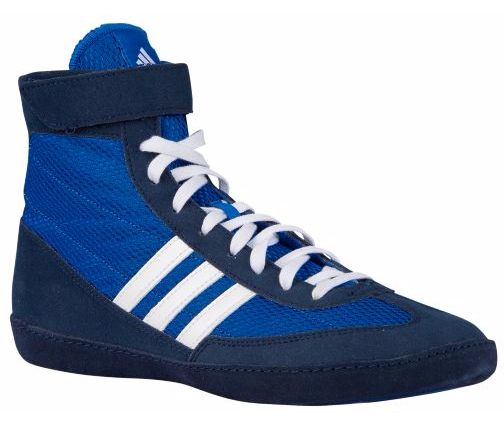 Adidas Combat Speed 4 Wrestling Shoes - Royal/White/Navy