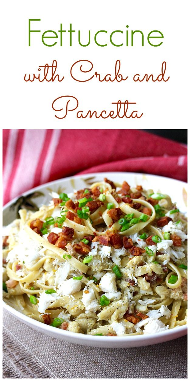 Fettuccine with Crab and Pancetta