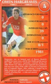 2008 Top Trumps Specials Manchester United #NNO Owen Hargreaves Front