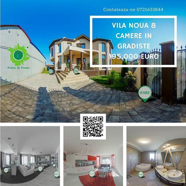 #TrancAndTranc va propune o noua proprietate careia sa ii spuneti cu drag #acasa o vila noua partial mobilata in cartierul #Gradiste  #spațioasă cu un teren de 400 m2  #360view #realestate #imobile #imobiliare #imobiliarearad #imobiledelux #instaimobiliare #apartament #acasa #acasă #vrimobiliare #vrrealestate #vr #arad #oferta #reducere #discount #promotie #pretpromotional
