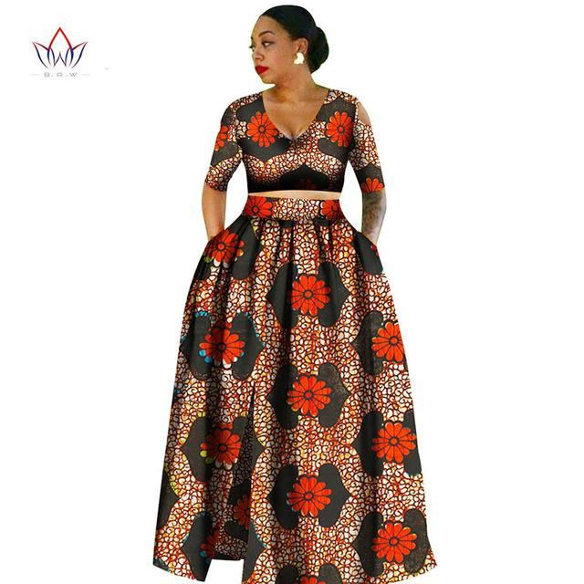 African Clothes For Women Tradition Two Piece Africa Clothing Designs Plus Size Dashiki African For Women African Fashion African Clothing Fashion