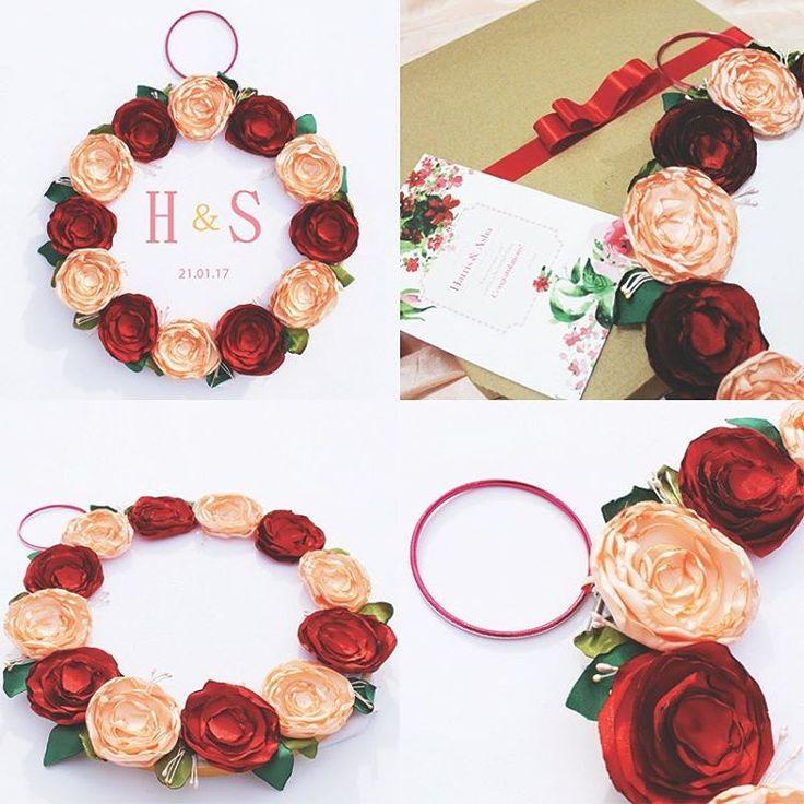 Kado pernikahan_Sulaman nama bride & groom_hand embroidery hoop_wedding gifts