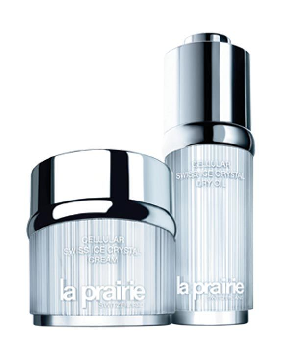 La Prairie Cellular Swiss Ice Crystal Cream and Dry Oil, $365/50ml each http://www.laprairieswitzerland.com/