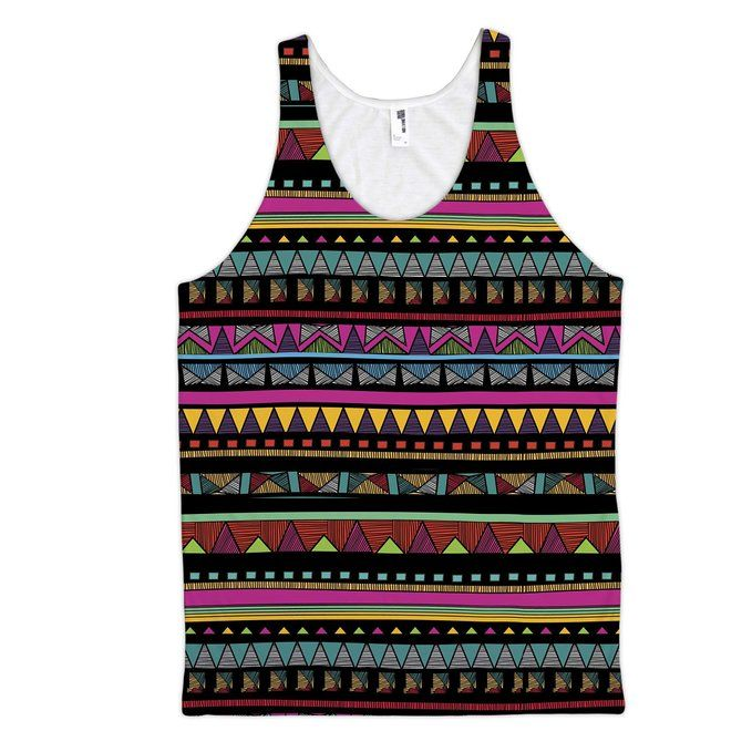 All Over Print Aztec Pattern Unisex Fashion Tank Top