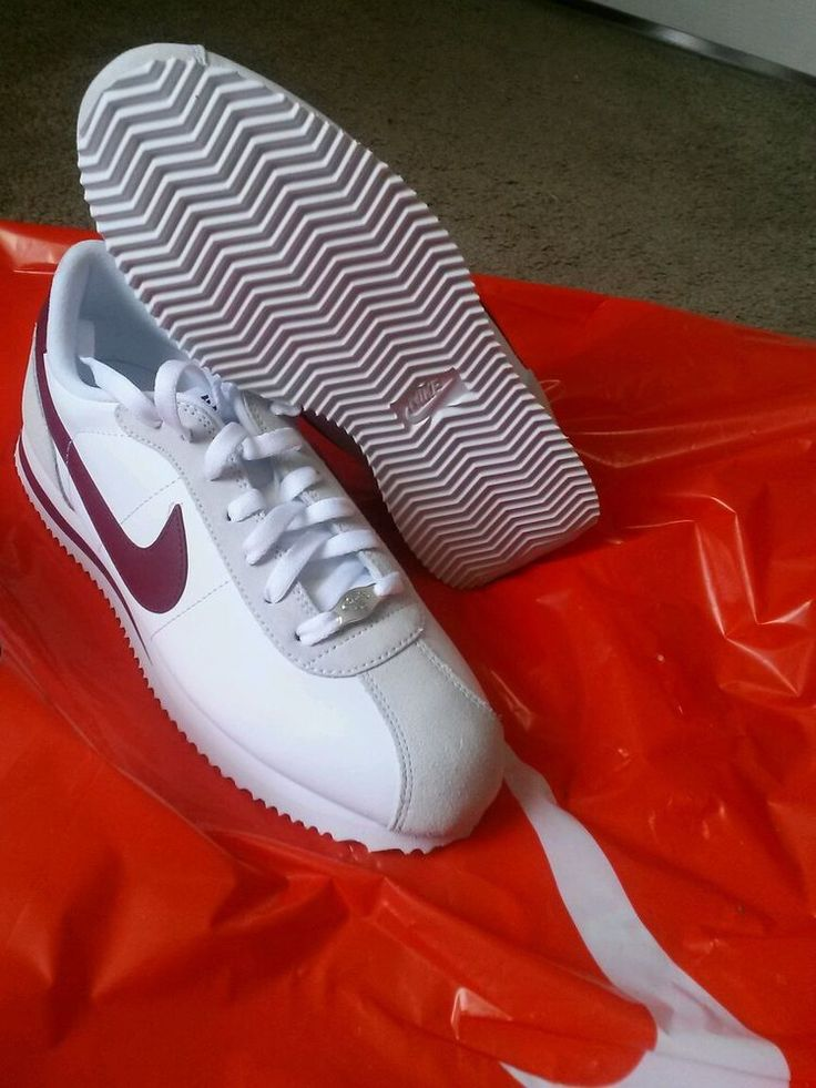 NIKE CORTEZ BASIC LEATHER 06 White/ team red great summer shoe classic size  9 #