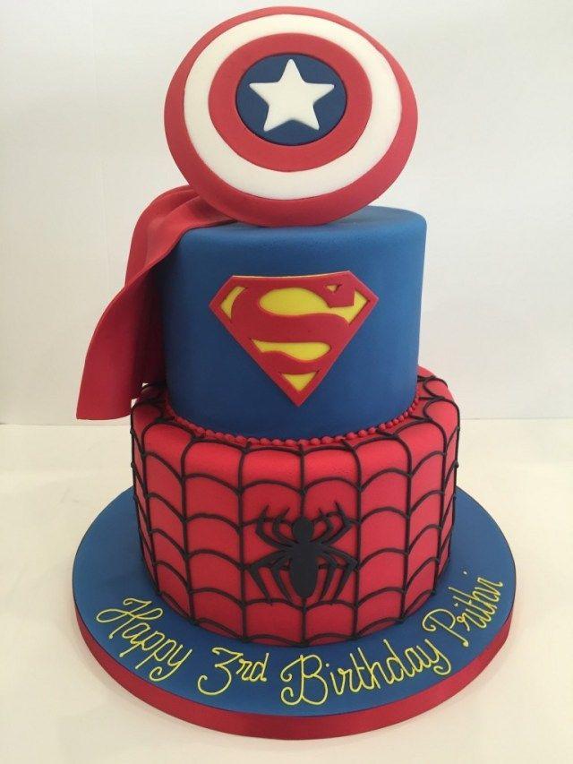 хотя торты супергерои фото сторонам туловища