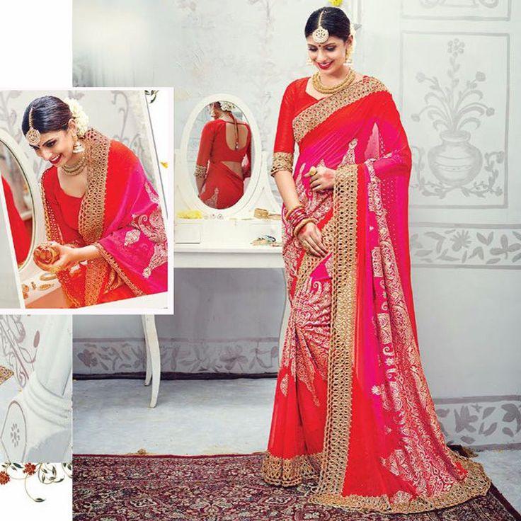 Indian Wedding And Party Wear New Sari Design Bollywood Bridal Pakistani Sarees #Handmade #Saree