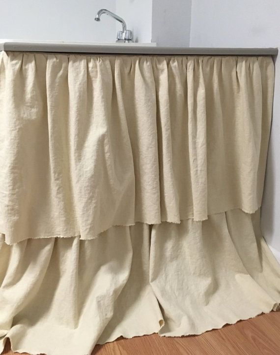 Sink Skirt  custom ruffled  choose your by TraceysFeatheredNest