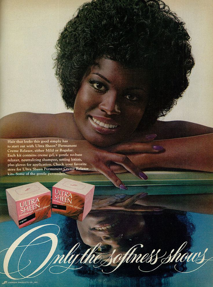 1972 Beauty Ad, Ultra Sheen Permanent Creme Relaxer for