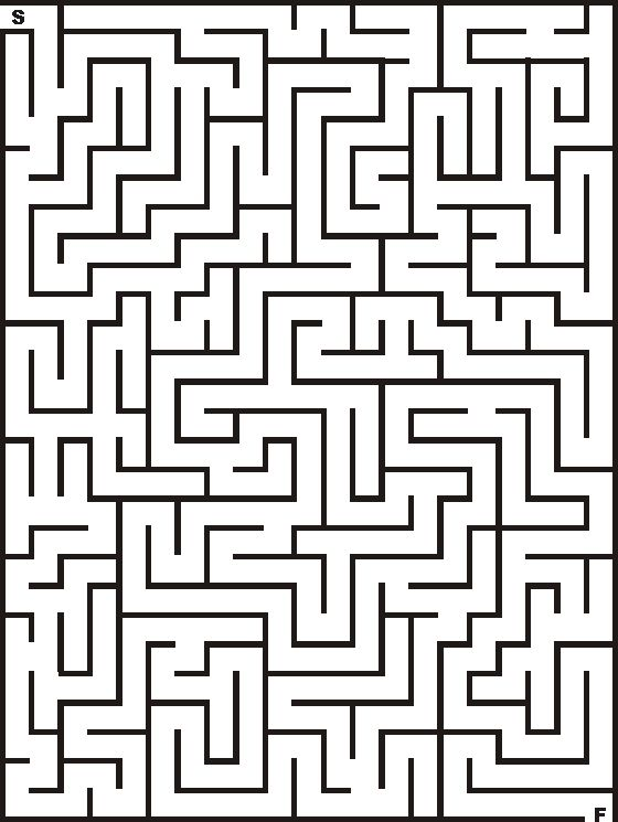 21x28 printable maze for kids