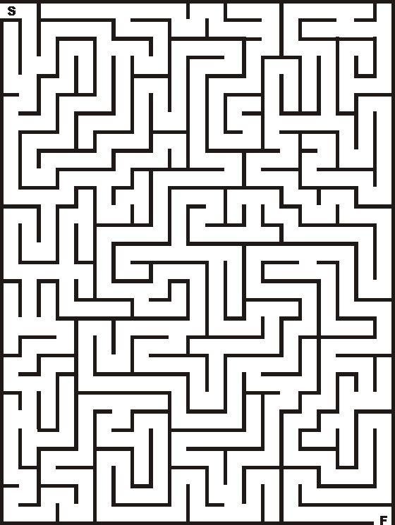 21x28 Printable Maze for Kids