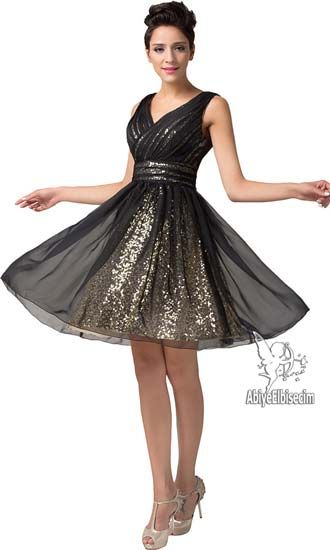 kısa abiye elbise askılı altın siyah ,abiye elbise,kısa abiyeler,uzun abiye,online abiye,ucuz abiye