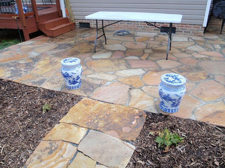 how to build a rock patio