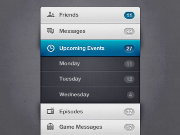 25 Examples of Menu UI Design | Inspiration - UltraLinx