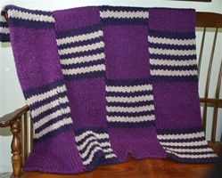 Bold Stripe Afghan pattern double knit on the All-n-One Loom by authentic knitting board. Afghan is my next project!