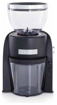Krups GX600050 Electric Conical Burr Grinder - modern - coffee makers and tea kettles - Chef's Corner Store
