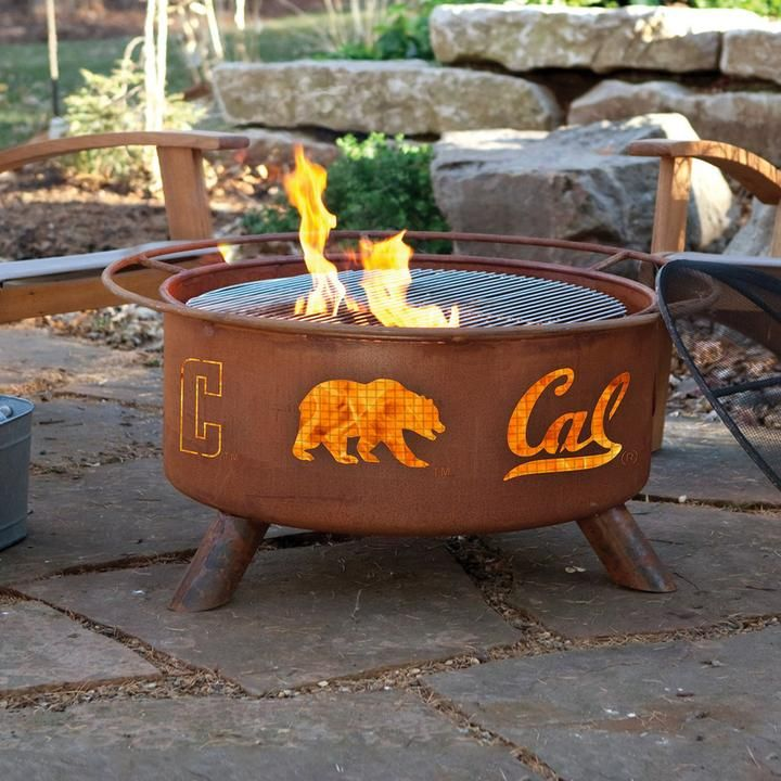 Cal Golden Bears Portable Fire Pit Bbq Grill Set Fire Pit Bbq Steel Fire Pit Portable Fire Pits