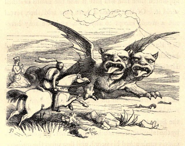 """Richard Doyle (1824-1883), 'Bogoris & the Sylant', """"Fairy Tales From All Nations"""" by Anthony Reubens Montalba, 1849"""