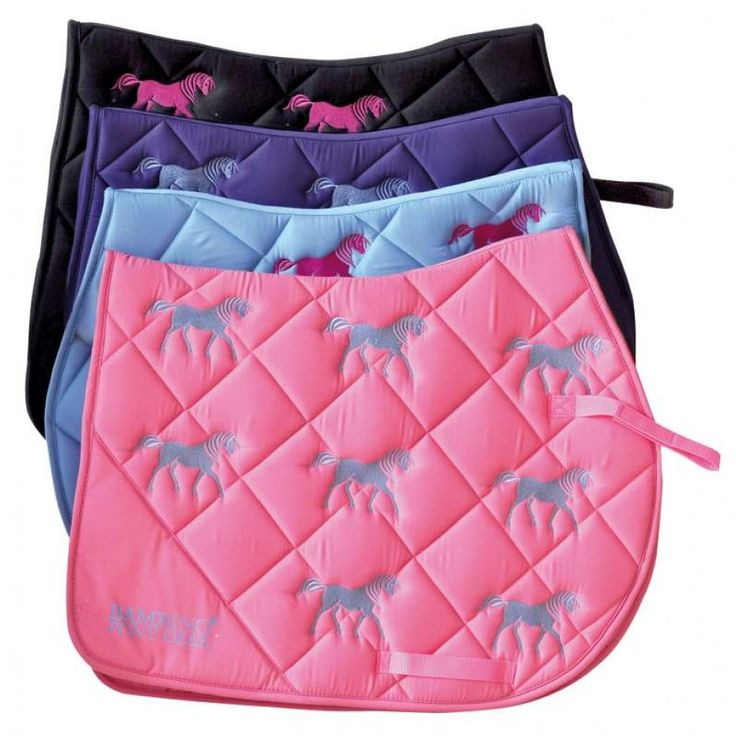 BAMBINO EMBROIDERED SADDLE PAD   A great pad for your enthusiastic young horse lover!  $59.95
