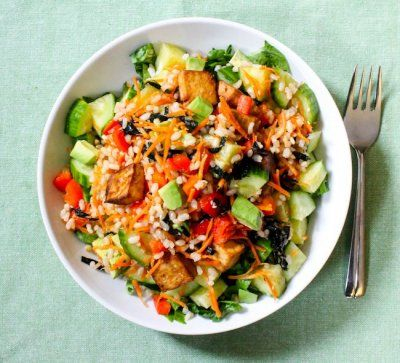 Deconstructed Sushi Salad by Eat Spin Run Repeat