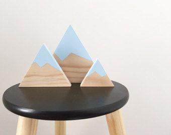 Wooden mountain set of four nursery decor / kids / от Livvyandri