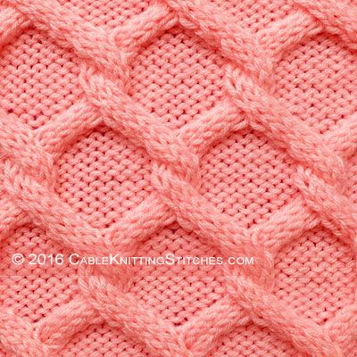 Cable Knitting Stitches » Diamonds Cable stitchA whole site dedicated to Cable knitting patterns. THANK YOU!!!