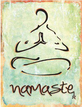 Amazon.com - Namaste Metal Sign, Health and Well-being, Yoga ...
