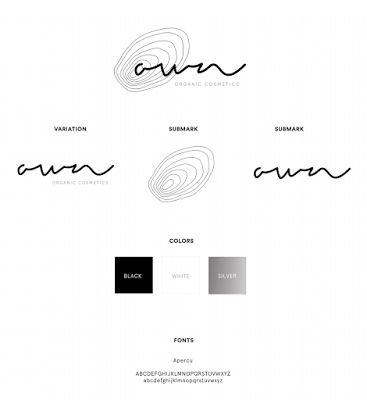 Own Organic Cosmetics branding, logotype, design guidelines, identity design, graphics,