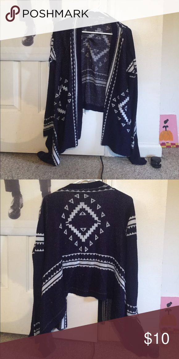 Charlotte Russe tribal cardigan Beautifully draped tribal print cardigan Charlotte Russe Sweaters Cardigans