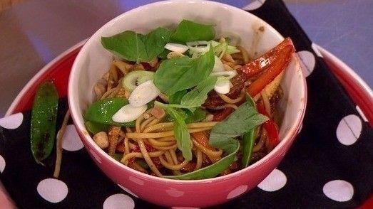 James Tanner's honey and soy pork noodles