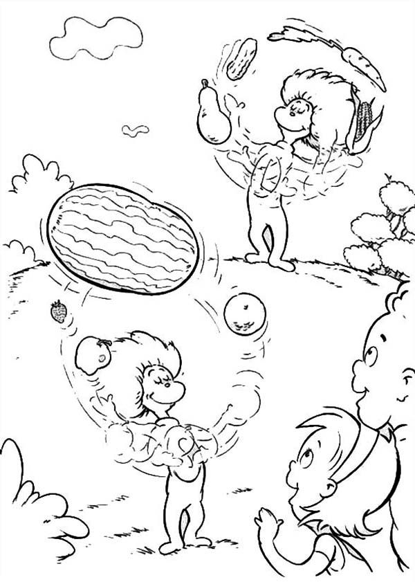 Cat In The Hat Coloring Pages Coloring Pages Cartoon Coloring