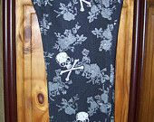 Plus Size 3X Stretch Jeans, Plus Size 22 Skinny Jeans, Womens Black Stretch Jean, Skulls and Crossbones, Plus Size Women's Clothing, Gothic