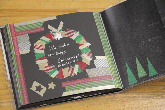 マステでクリスマスリース #クリスマス #マステ #マスキングテープ #アルバム