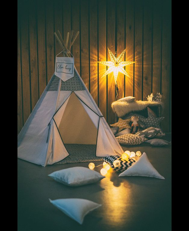 Great gift for kids! Party Games – TEEPEE MOROCCO made of natural materials – a unique product by ElenLiving via en.DaWanda.com
