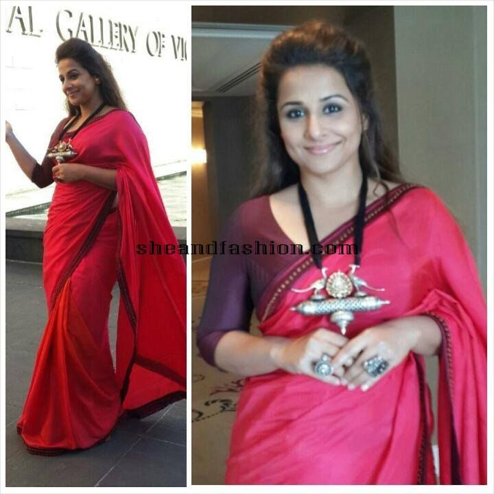 Vidhya Balan in Indian Clothing Designer Shruti Sancheti Saree