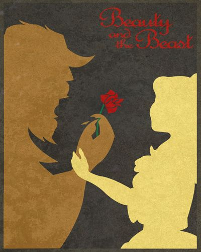 Beauty and the Beast, Disney Movie Posters by Taylor Denning: