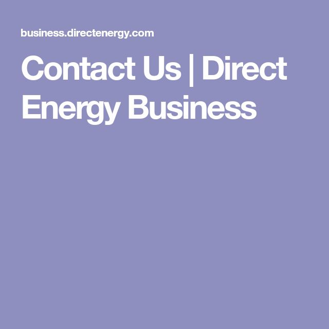 Contact Us | Direct Energy Business