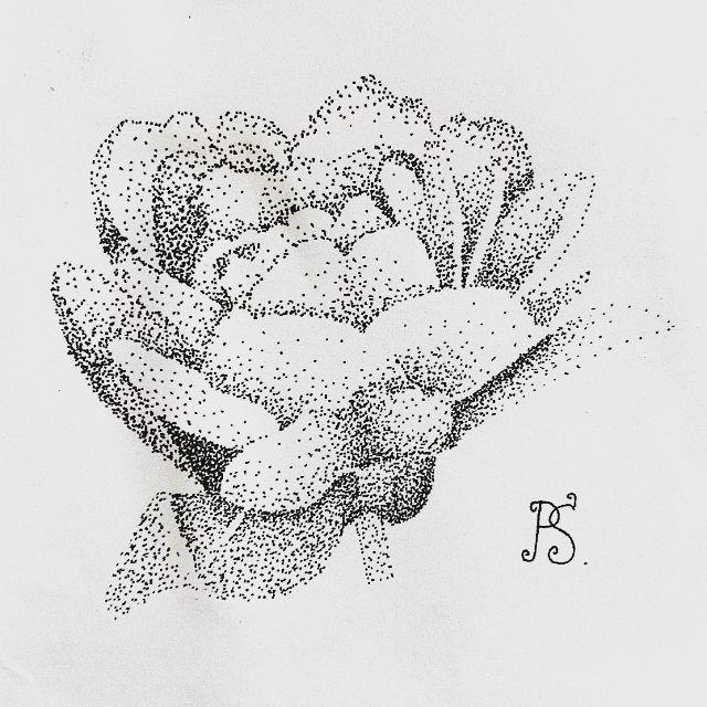 #тату #татуировка #татуэскиз #эскиз #дотворк #графика #чб #цветок #пион #tattoo #tattoosketch #sketch #dotwork #graphic #bw #flower #peony