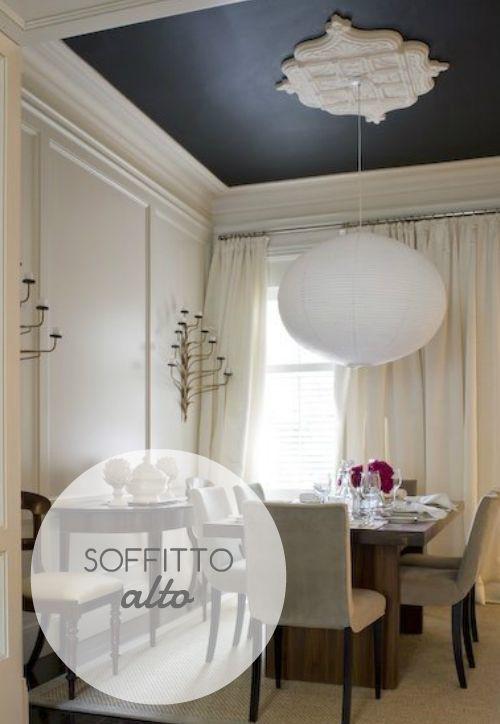 Consiglio per soffitti alti tinteggiare le pareti con for Salotti colorati