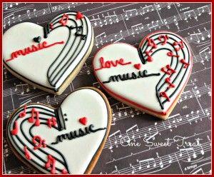 Music Cookies by OneSweetTreat