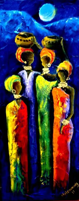 Beautiful Africa3 Painting  - Beautiful Africa3 Fine Art Print
