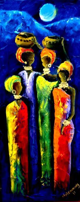 Beautiful Africa3 Painting - Beautiful Africa3 Fine Art Print