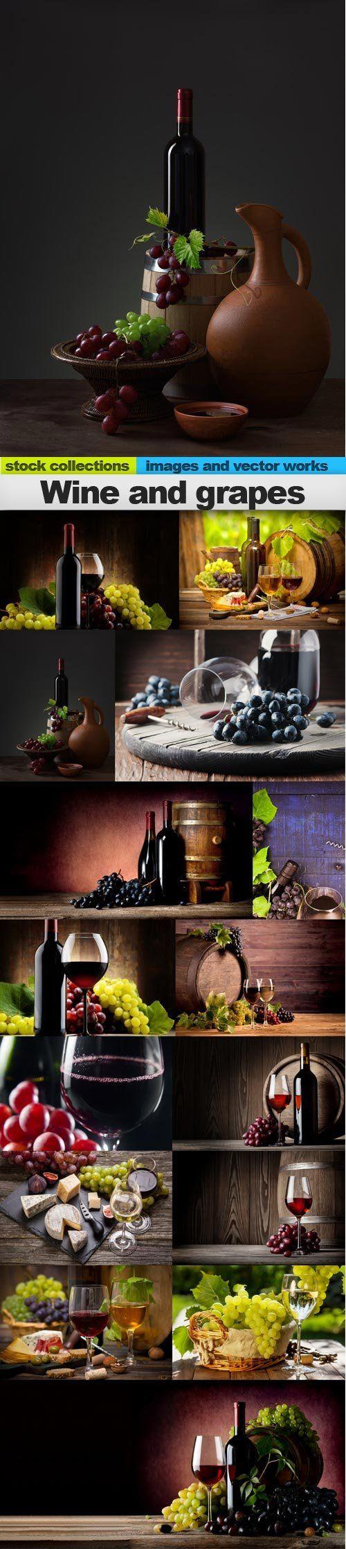 Wine and grapes, 15 x UHQ JPEG