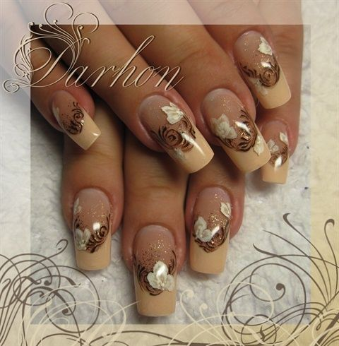 Brown French Nails - Darhon