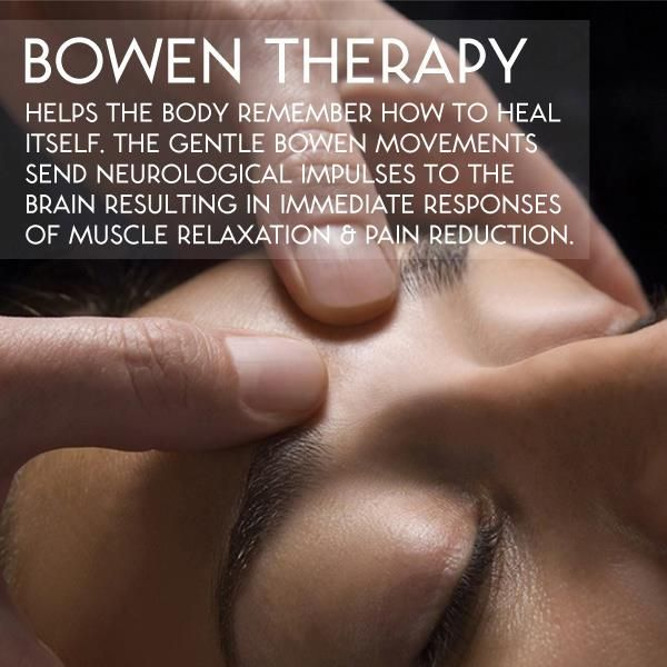 The Bowen Technique is a therapeutic technique named after Australian Tom BowenThe technique consists of the practitioner using the thumbs or forefingers to make rolling type moves across tendons, ligaments and superficial fascia. The work is characterised by two minute pauses between moves, where the therapist leaves the room. It is claimed that this break allows the work to take effect.    #health #wellness #types #bowen #therapy